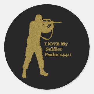 gold solder snipper classic round sticker