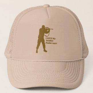 gold solder snipper trucker hat