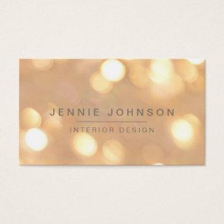 Gold Sparkle Bokeh Business Card
