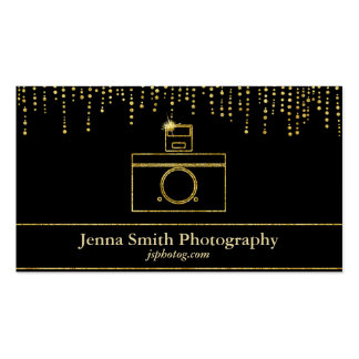 Gold Sparkle Camera Photographer Pack Of Standard Business Cards