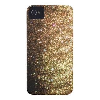 Gold Sparkle Glitter Blackberry Christmas iPhone 4 Case
