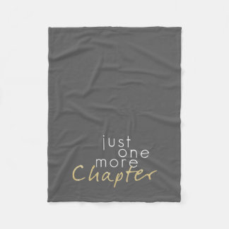 Gold Sparkle Just One More Chapter Fleece Blanket