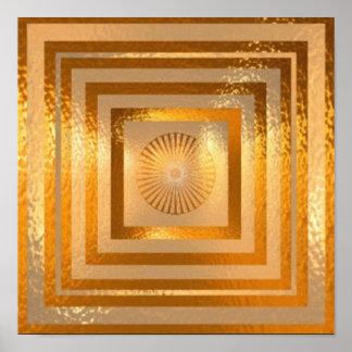 GOLD Sparkle Mandala Poster