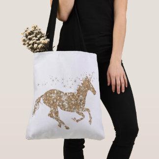 Gold Sparkle Unicorn Tote