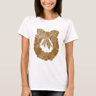 Gold Sparkle Wreath by Navin T-Shirt