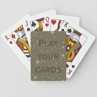 Gold Sparkles Custom Playing Cards