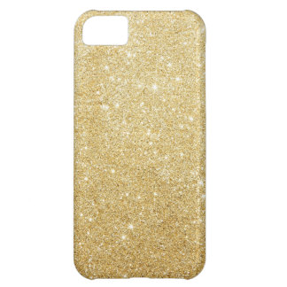 Gold Sparkly Glitters iPhone 5 Case