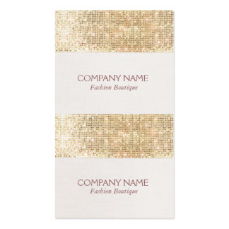Gold Sparkly Sequin Mini Price, Gift or Hang Tags Pack Of Standard Business Cards