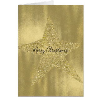 Gold Sparkly Star Card