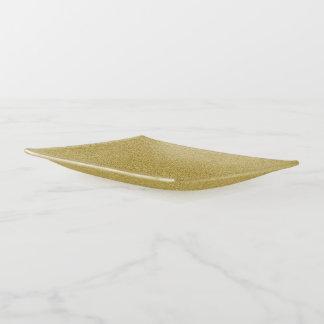 Gold Speckled Design Trinket Trays