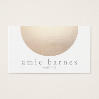 Gold Sphere Elegant White Minimalist Business Card