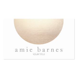 Gold Sphere Elegant White Minimalist Pack Of Standard Business Cards