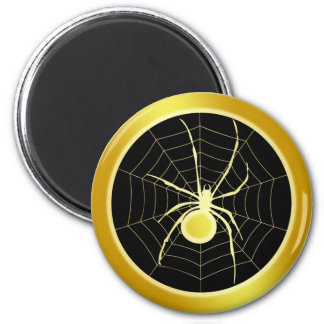 GOLD SPIDER AND WEB MAGNET