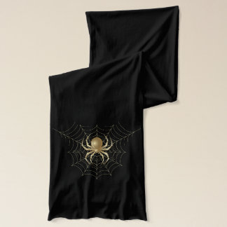 Gold Spider on Golden Web Scarf