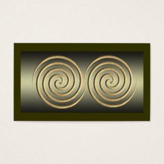 Gold Spiral Design Business Card