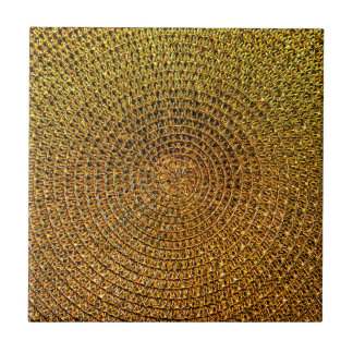 Gold Spiral Pattern Ceramic Tile