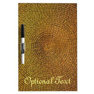 Gold Spiral Pattern Dry Erase Board