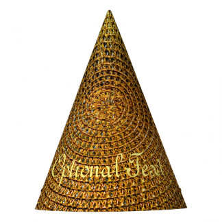 Gold Spiral Pattern Party Hat