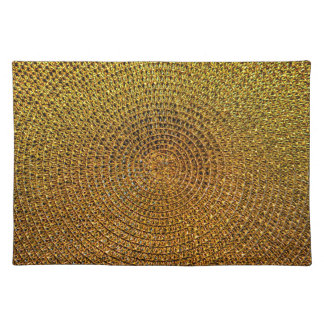 Gold Spiral Pattern Placemat