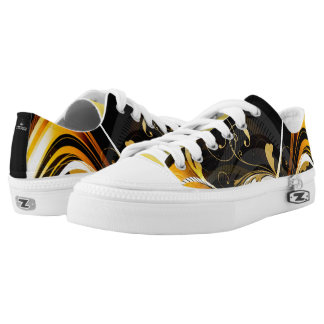 Gold Splatter Abstract 101 Low Tops