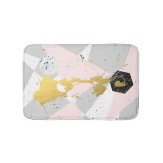 Gold Splatter Bath Mat