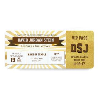 Gold Sports Theme Bar Mitzvah Design Card