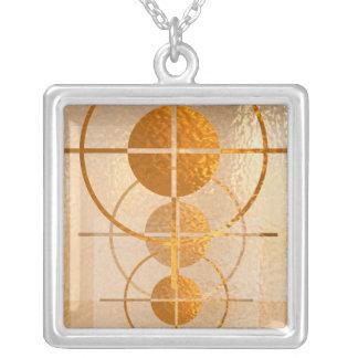 Gold Spot - Golden Dots Square Pendant Necklace