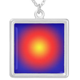 Gold Spot Sun Pattern  JAN 03 2011 MON Square Pendant Necklace