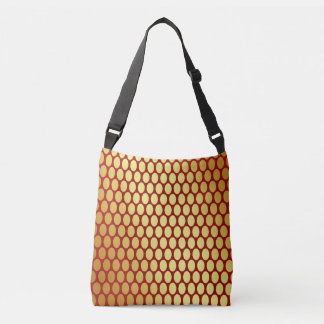 Gold Spots On Red Crossbody Bag