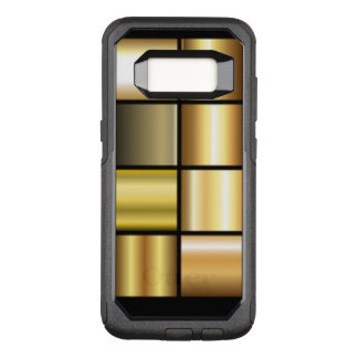 Gold Square Pattern Collage OtterBox Commuter Samsung Galaxy S8 Case