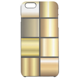 Gold Square Pattern Print Collage Clear iPhone 6 Plus Case