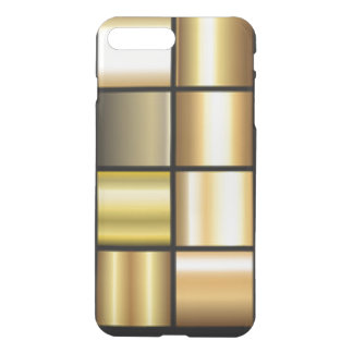 Gold Square Pattern Print Collage iPhone 8 Plus/7 Plus Case