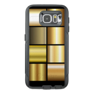 Gold Square Pattern Print Collage OtterBox Samsung Galaxy S6 Case