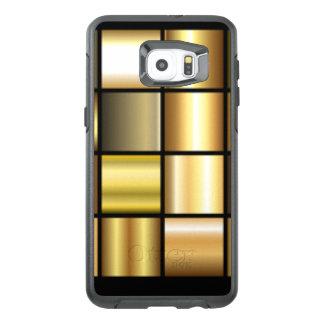 Gold Square Pattern Print Collage OtterBox Samsung Galaxy S6 Edge Plus Case
