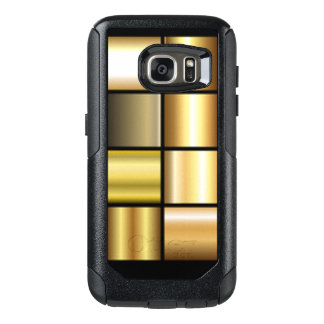 Gold Square Pattern Print Collage OtterBox Samsung Galaxy S7 Case