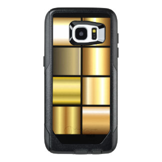Gold Square Pattern Print Collage OtterBox Samsung Galaxy S7 Edge Case
