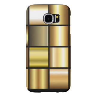 Gold Square Pattern Print Collage Samsung Galaxy S6 Cases