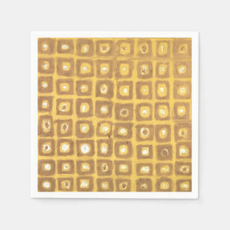 Gold Squared Napkin Disposable Napkins