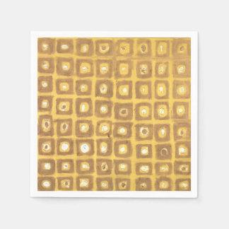 Gold Squared Napkin Disposable Serviette