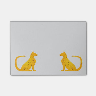 Gold Stained Glass Cat CrystalKatz Stickies Post-it® Notes