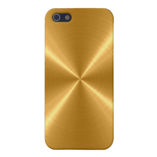 Gold Stainless Steel Metal iPhone 5/5S Covers
