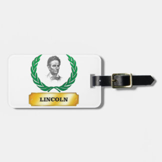 gold standard lincoln luggage tag