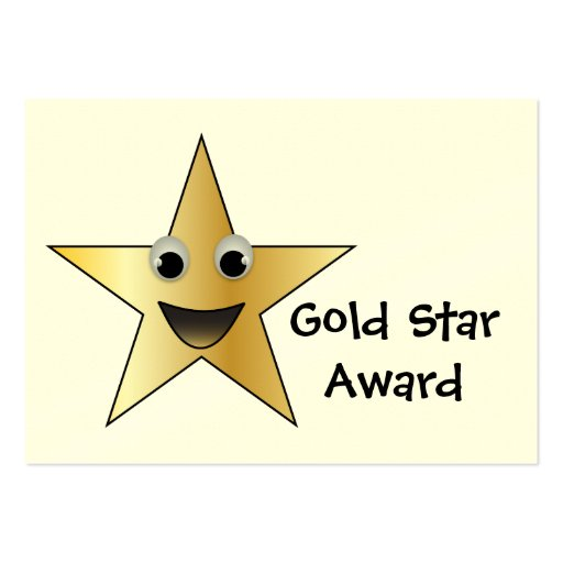 Gold Star Achievement Award for Children Business Card