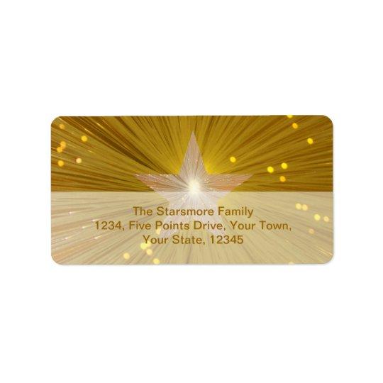 Gold Star address label medium