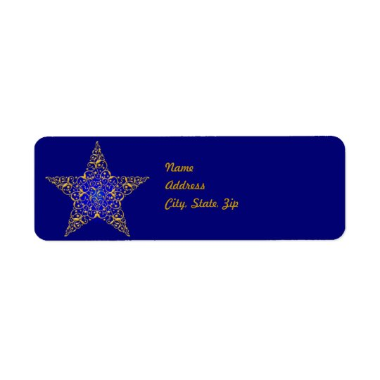 Gold Star Address Label Template