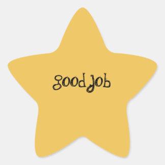 Gold Star Award Stickers