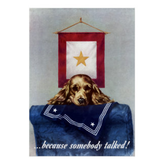 Gold Star Banner -- Because Somebody Talked Poster