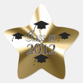 Gold Star Class Of 2012 Graduation Stickers