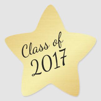 Gold Star Class of 2017 Custom Graduation Sticker