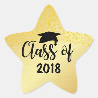 Gold Star Class of 2018 Custom Graduation Sticker